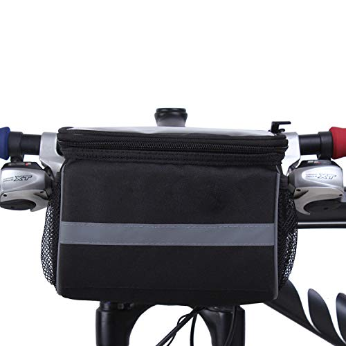 LZCX Multifunción Manillar de la Bici, Bolso Delantero 3L Bastidor de la Bicicleta Bolsa a Prueba de Agua, Accesorios para Herramientas de Ciclo Bolsa de Almacenamiento
