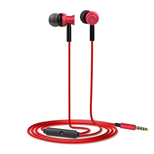 Stuffcool Deb in-Ear Headphones/Earphones with Mic for iPhone, iPad, Android Phones & Tablet - Red