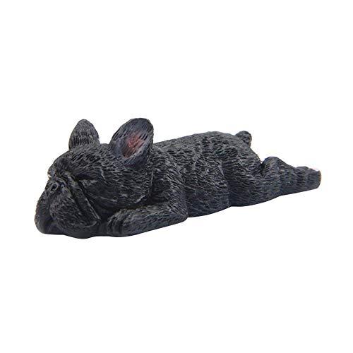DAWEIF Cute Resin Bulldogs Sleeping DIY Doll Cartoon Mini Toys for Fridge Mobile Phone Decoration Home Decor