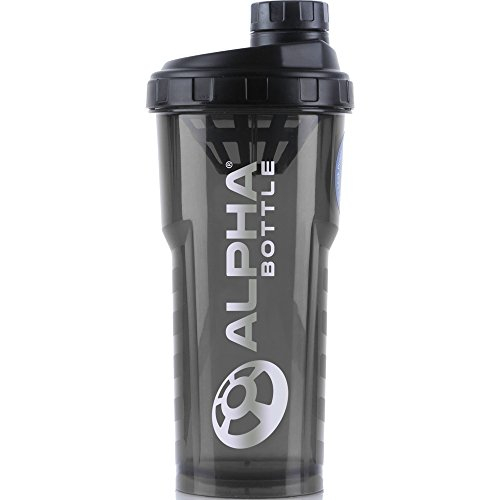 Alpha Bottle 750ml BPA and DEHP freien Protein Shaker (Rauch/Schwarz)