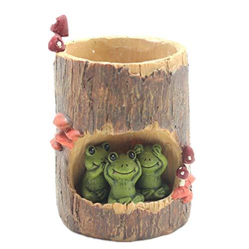 Simpatico Vaso da Fiori per Animali Mini Vaso da Fiori Rotondo in Resina per Drenaggio Carnoso Vaso da Fiori per Ufficio in Resina