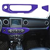 Hoolcar Interior Air Conditioner Switch Panel Cover ABS AC Trims for 2018-2020 Jeep Wrangler JL JLU & 2020 Gladiator JT, Purple