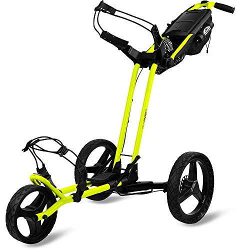 Sun Mountain Golf Pathfinder 3 3-Wheel Push Cart - Atomic Yellow