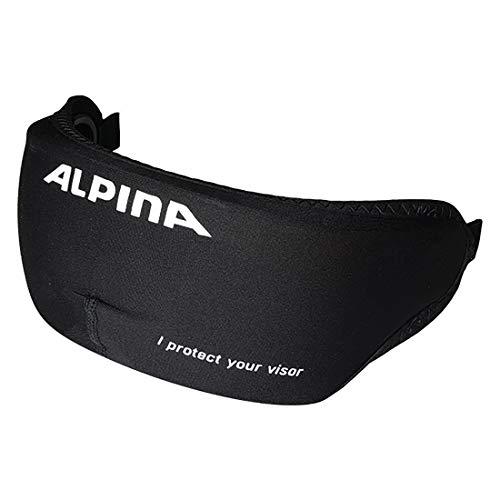Alpina Unisex– Erwachsene Visor Cover Fahrradhelmzubehör, Black, One Size