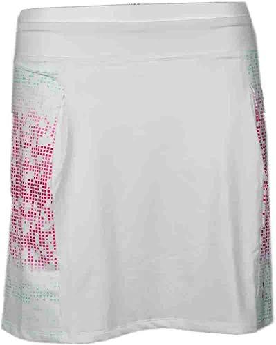 PUMA Golf Women's Glitch Block Skort, Cabbage/White/Raspberry, SM