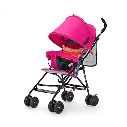 Lowest Price! DZFZ Strollers Toddlers Lightweight Folding Portable Shock Absorbing Baby Stroller 0-3...