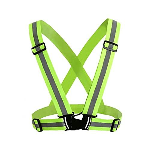 Warnweste Straps Leichte Sicherheits-Gang-autositz Einstellbare Elastische Sicherheits Bügel 360 Grad High Visibility Quergurt Für Outdoor-aktivitäten Fluorescent Grün