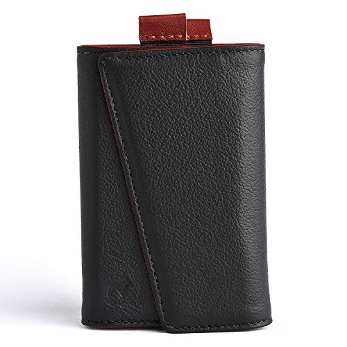 The Frenchie Co. Speed Wallet | Rogue Noir | The Original Speed Wallet for Men with RFID Blocking and Super Fast Card Access | Italian Leather Ultra Slim