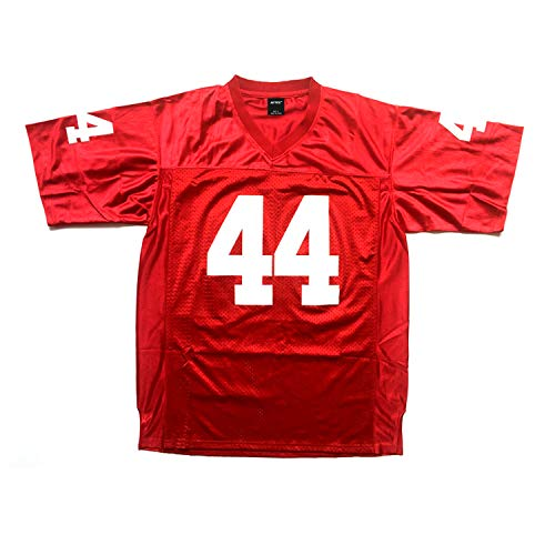 Men's #44 Gump Football Jersey Red Color Stitched Number N Letters Size S - 3XL (XXXL)
