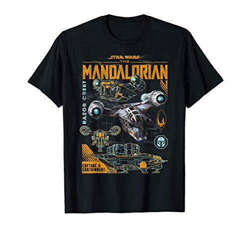 Star Wars The Mandalorian Razor Crest Schematics T-Shirt