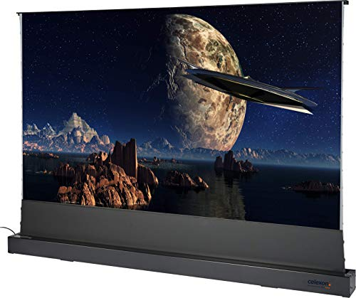 celexon Home Cinema y Business Pantalla de Soporte en Suelo para proyectores de ultracorta Distancia - 120' - 265.6x149.4cm - Altamente Reflectante Ganancia 0.6-4K UHD - Negra