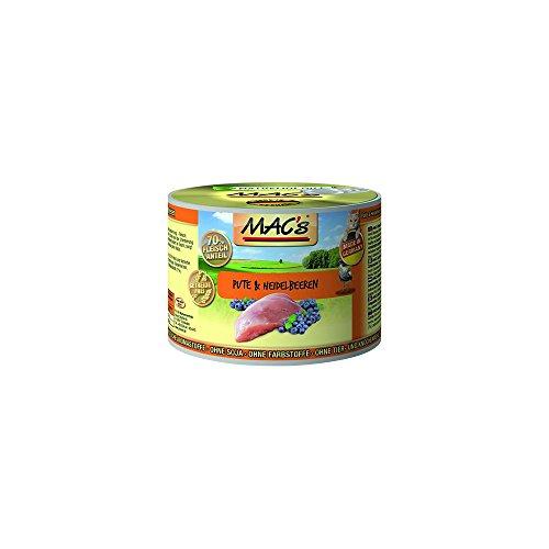 Mac's Katzenfutter getreidefrei Pute & Heidelbeeren, 800 g
