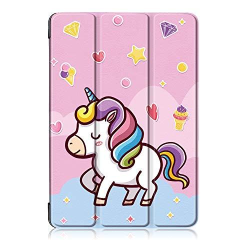Xuanbeier Ultra Slim PU Funda de Cuero con Tapa para Huawei MediaPad T5 10 Pulgadas 2018,Unicornio