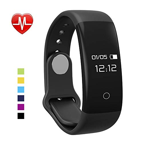 GoLingYea Fitness Tracker, H30 Activity Tracker Watch with Heart Rate Monitor, Waterproof Smart Band with Step Counter, Calorie Counter, Pedometer Watch for Kids Women Men Android iPhone