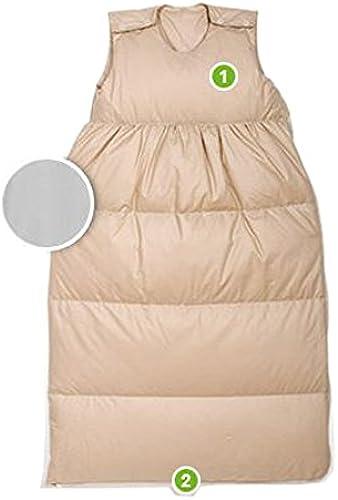 Odenw er Daunen-Schlafsack 15cm, Farben Uni beige