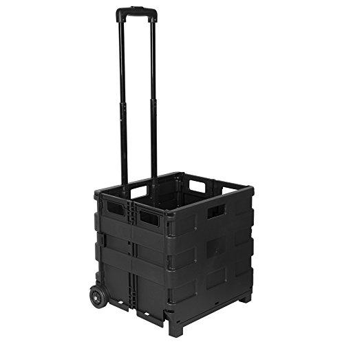 Carro de transporte Relaxdays Plegable 35 kg Carro de aluminio y pl/ástico Transportaci/ón 36 x 30 x 93 cm