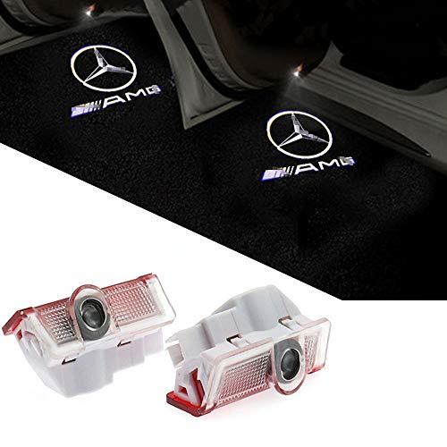 znystar 2pcs LED Car Logo Puerta Fantasma sombra luz proyector