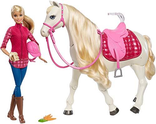Barbie Caballo Súper Interactivo con muñeca (Mattel FRV36) , color/modelo surtido