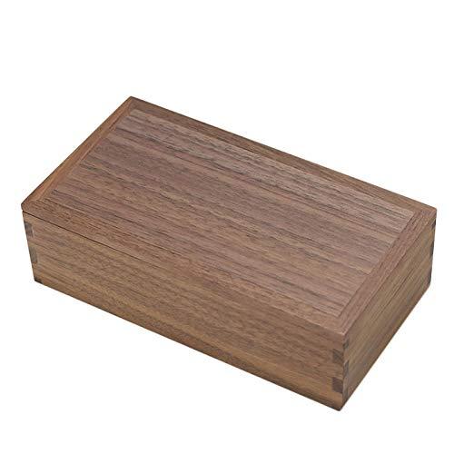 木製 弁当箱 日本製 国産 長角 一段 お弁当箱 小 組子 ウォールナット 松屋漆器 箱入り 約450cc