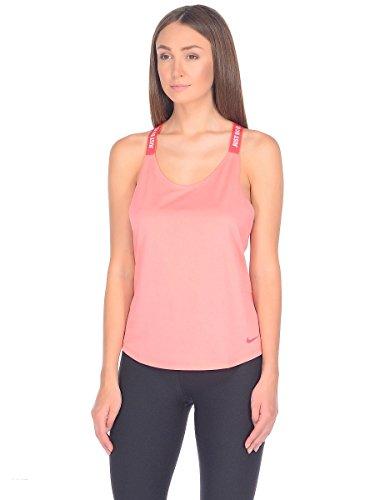 Nike W Nk Dry Tank Elastika Träger-Top für Damen, Rot L