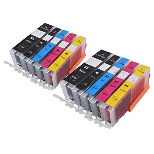 WSCHENG 570 571 PGI-570 CLI-571 Cartucho de Tinta Compatible para Canon PIXMA MG5750 MG5751 MG5752 MG6850 MG6851 MG6852 TS6050 TS5050 5051 (Color : 2PGBK 2BK 2C 2M 2Y)