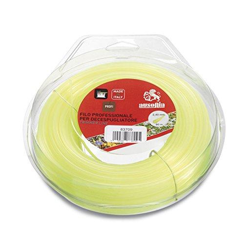 Ausonia - 83722 Fil pour débroussailleuse Cadre jaune 4,0 mm x 30 m