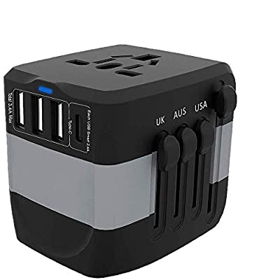 High Power Adapter, with 3.4A 3 USB  1 Type-C, ...