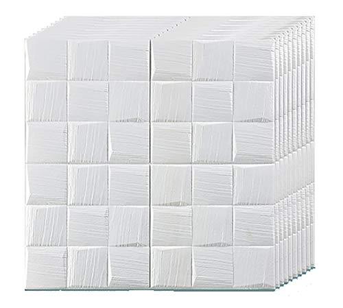 Fondo De Pantalla 3d Peel Y Stick 3d Paneles De Pared Para Decoración De Pared Interior,Ladrillo Fondo De Pantalla 10pcs Autoadhesivo Azulejos De Pared 70x70cm Ladrillo Fondo De Pa-White lattice 70pcs