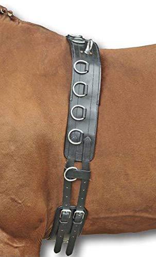 HKM Longiergurt aus Leder, schwarz, Pony