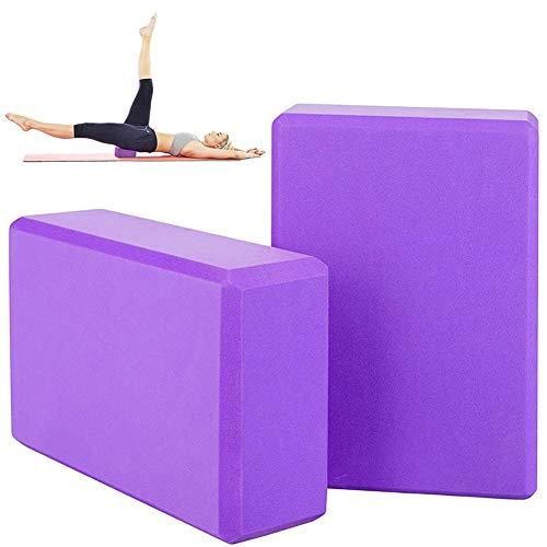 JPYH 2PCS Yoga Bloques, Bloque de Espuma EVA de Alta Densidad para Yoga, Pilates, Ejercicio, Antideslizante y Ligero