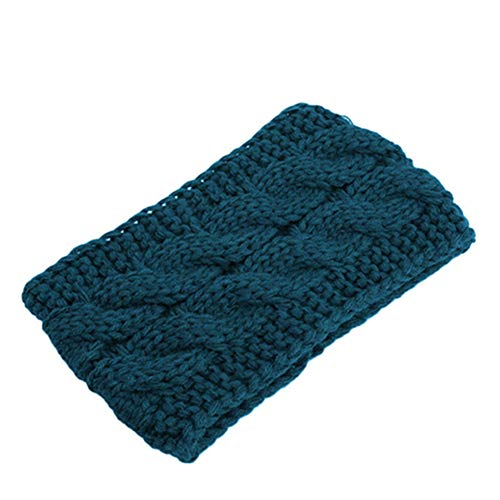 Egurs dames winter hoofdband hoofdband gebreide elastische hoofdband, turquoise groen
