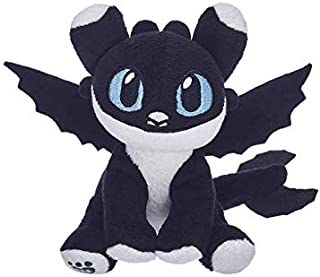 Build A Bear Workshop How to Train Your Dragon Hidden World - Black & White Nightlight with Blue Eyes