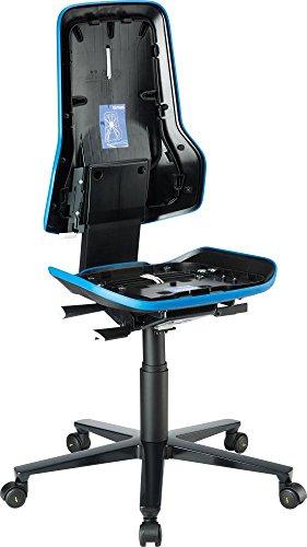 Basisstuhl ESD NEON 2 blau mit Rollen perman | 4016849552132
