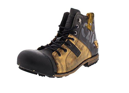 Brandfarm BV Yellow Cab 15012 Industrial - Herren Schuhe Boots Freizeitschuhe - Yellow-Black, Größe:42 EU