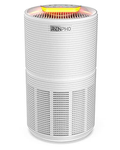 RENPHO Purificatore d'Aria con H13 Filtro HEPA, 88m², Elimina 99,97% di Allergeni Polline Polvere Fumo Odori Dander di Pet, 26dB Modalità di Sonno Timer Luce Notturna Indicatore di Controllo Filtri
