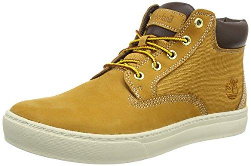 Timberland Herren Dauset Leather and Fabric Chukka Boots, Braun (Wheat Nubuck), 44.5 EU