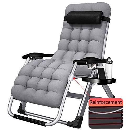 Sedie a Sdraio Zero Gravity Poltrona reclinabile con Cuscino e Porta Bicchiere, Giardino Patio Sdraio Sdraio for Heavy Persone, 330lbs di Supporto (Color : Style 2)