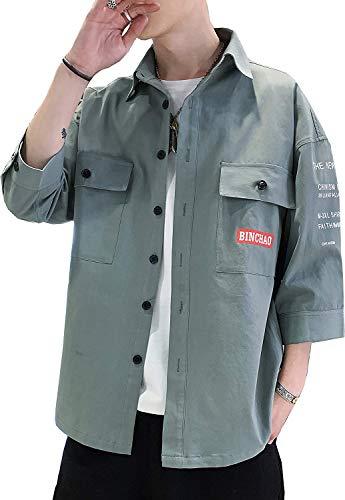 夏服 七分袖 シャツ メンズ カジュアル 吸汗速乾 汗染み防止 快適な 軽い 柔らかい かっこいい ワイシャツ カジュアル シンプル オシャレ 春夏秋 対応