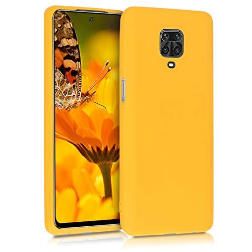 kwmobile Cover compatibile con Xiaomi Redmi Note 9S / 9 Pro / 9 Pro Max - Custodia in silicone TPU - Backcover protezione posteriore- giallo zafferano