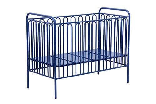 Babybett Gitterbett Kinderbett aus Metall Polini Vintage 150 blau 120 x 60 cm
