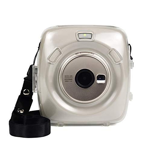 Compatible avec l'étui Square SQ 20 pour appareil photo à film instantané Fujifilm Instax Square SQ20 avec dragonne (transparent)