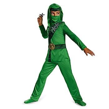 Disguise Shadow Ninja Green Master Ninja Classic Boys Costume One Color 3T-4T