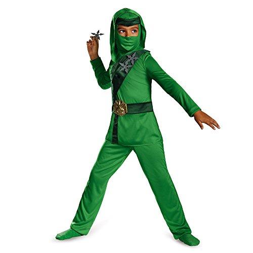 Shadow Ninja Green Master Ninja Classic Boys Costume, One Color, 3T-4T