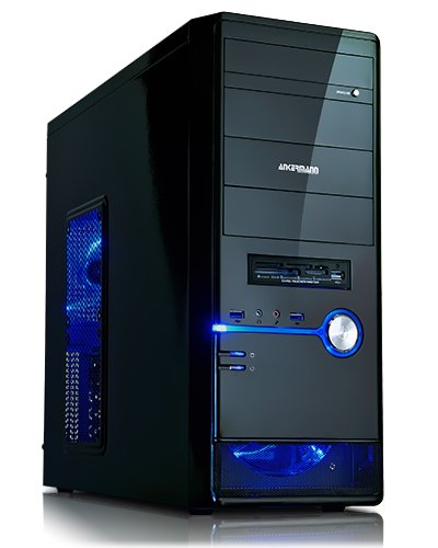 Ankermann-PC OVERCLOCK Edition - Intel Core, Intel Core i7-4790K 4x 4.00GHz, Sapphire Radeon R9 280 3072 MB, 8 GB DDR3 RAM, 2000 GB Festplatte, DVD-RW, ohne Betriebssystem, Card Reader, EAN A1-NP5W-ZRBL