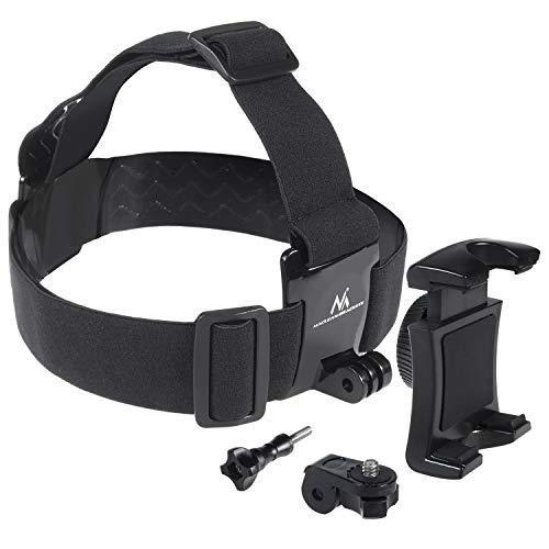 Maclean Fast Connect MC-825 Universal Handy Kampera Kopfbandhalterung Sport Halterung Fitness Outdoor Kopfgurt für GoPro