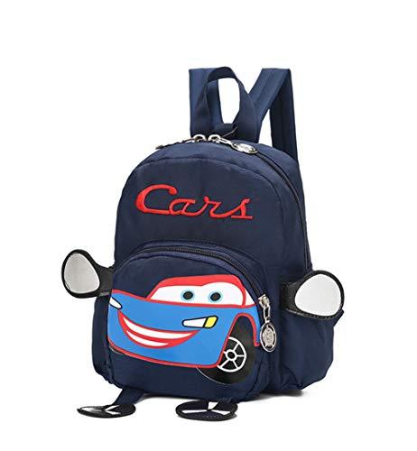 Mochila pequeña para niños de 1 a 3 años, diseño de coche, para niños de 1 a 3 años, creativa, mochila escolar, bandolera ajustable, para niños y niñas
