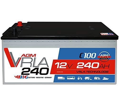 BIG AGM 240Ah C100 12V Solar Batterie Versorgung Mover Caravan Boot statt 220Ah 230Ah