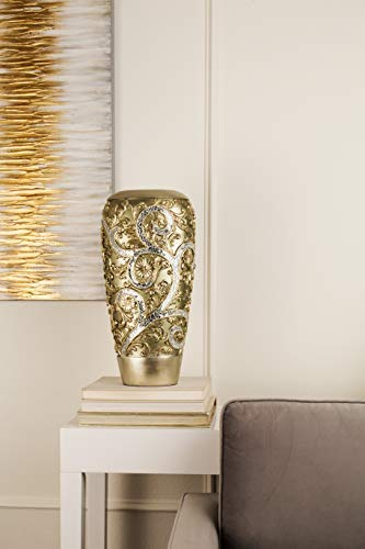 OK Lighting Silver Vine Vase