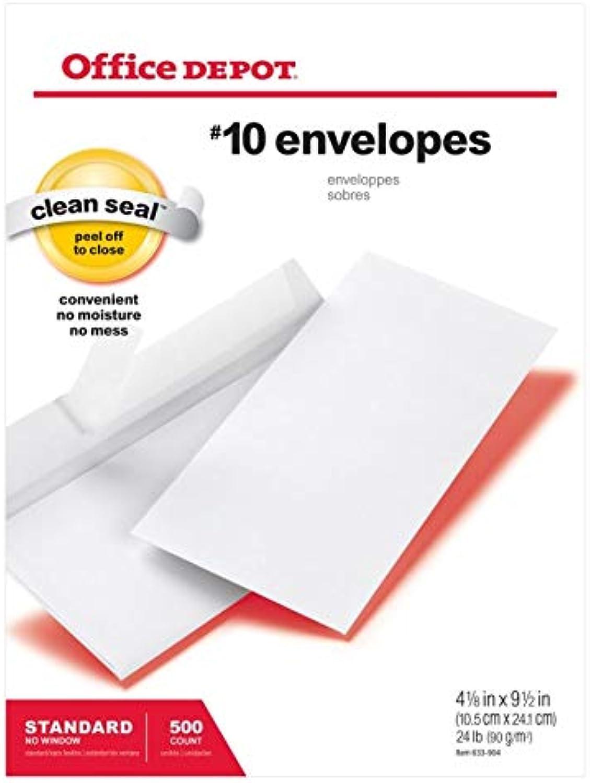 Office Depot(R) Brand Clean Clean Clean Seal(TM) Briefumschläge, Nr. 10, 10,2 cm x 22,9 cm.), weiß, 500 Stück B00DB8LVIS   Online Outlet Store  dfc365