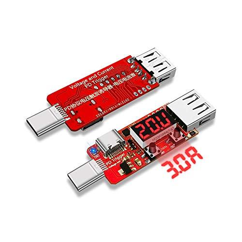 Módulo electrónico Tipo C-PD 3.0 Digital amperímetro del voltímetro del probador instrumento automático de carga rápida Junta de activación Equipo electrónico de alta precisión